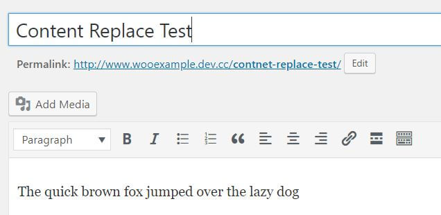 content replace test