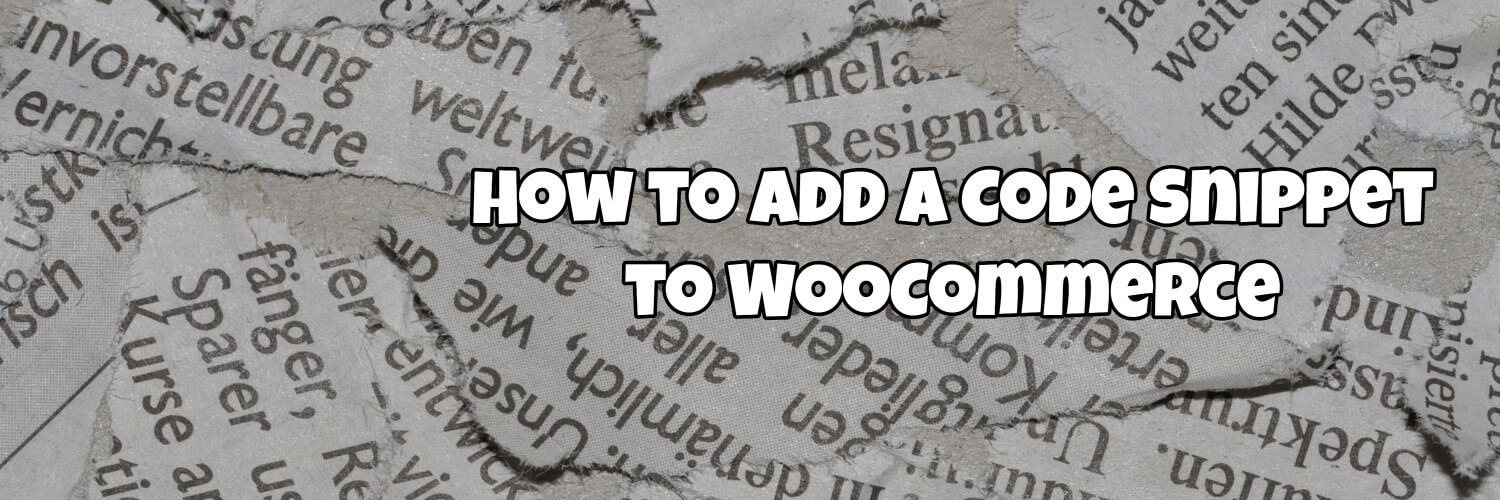 how to add a code snippet to woocommerce
